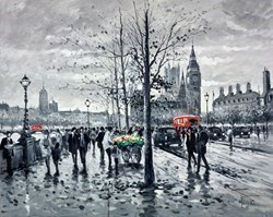Westminster, Evening by Henderson Cisz -  sized 30x24 inches. Available from Whitewall Galleries